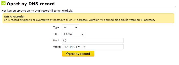 DNS Til bit-ly pro